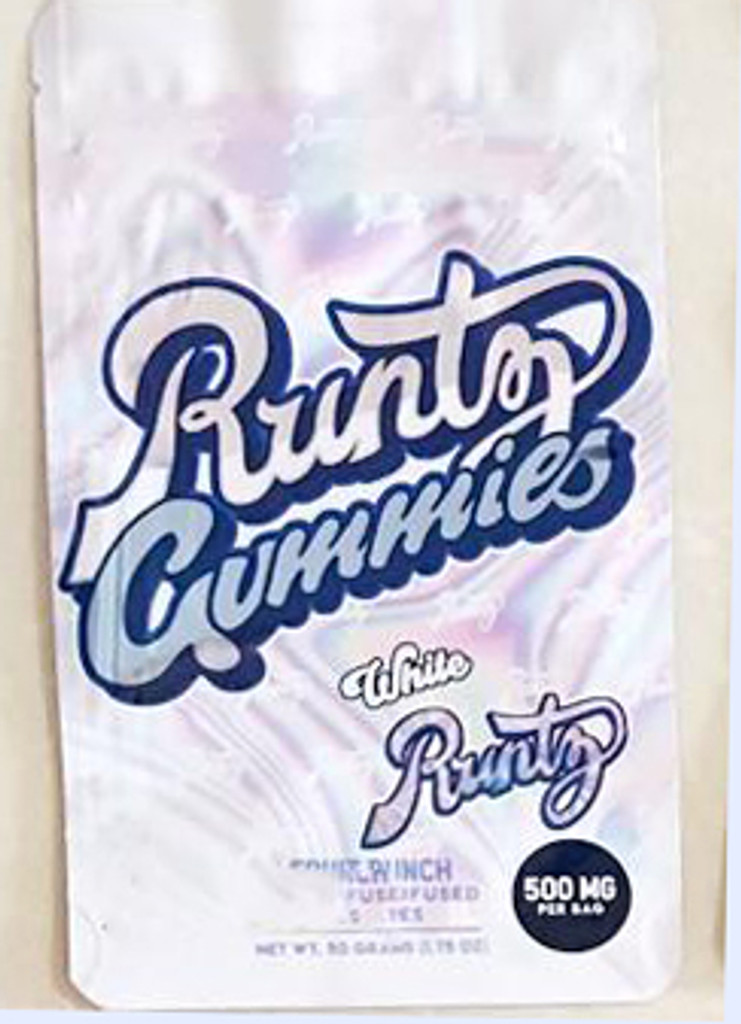 Runtz  Gummies -White Fruit Punch 500mg Mylar Bag(FREE SHIPPING)