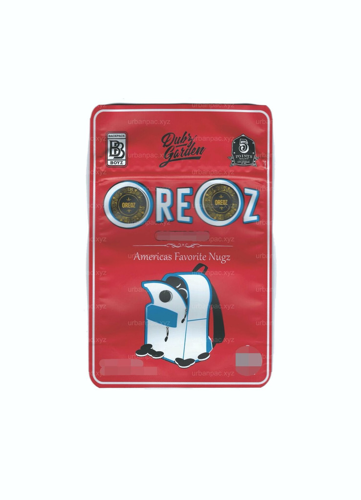Oreoz Mylar Bags 3.5g SMELL PROOF RESEALABLE OREOZ BAGS W/ HOLOGRAPHIC AUTHENTICITY STICKERS AND LABEL (FREE SHIPPING)