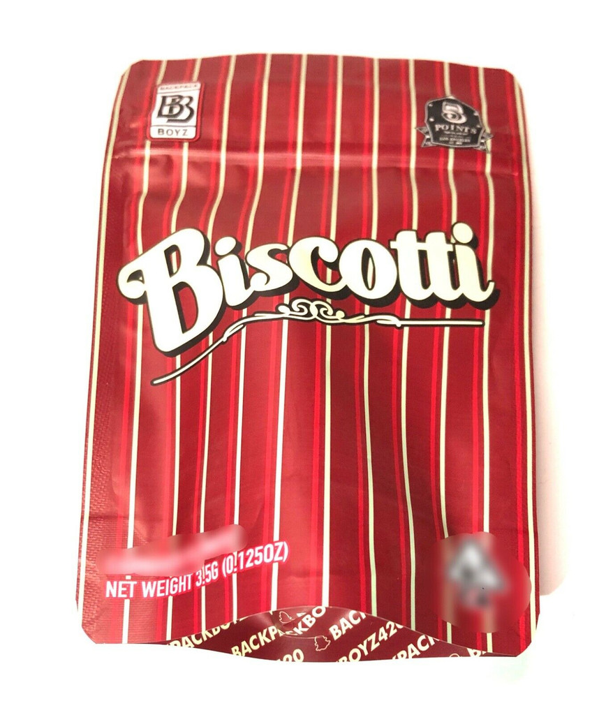 BACKPACK BOYZ   BISCOTTI  3.5g  Child Resistant Mylar Bags empty cookies Mylar bags runtz packaging zip lock gusseted empty Cookies bags for snacks and candy W/ TAMPER STICKER (FREE SHIPPING)