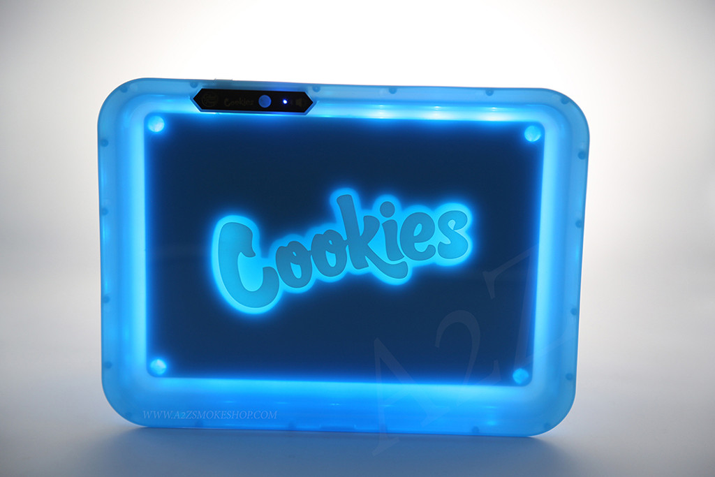 Cookies Bluetooth LED Glow Rolling Tray Lights up Rechargeable - Glossy Finish