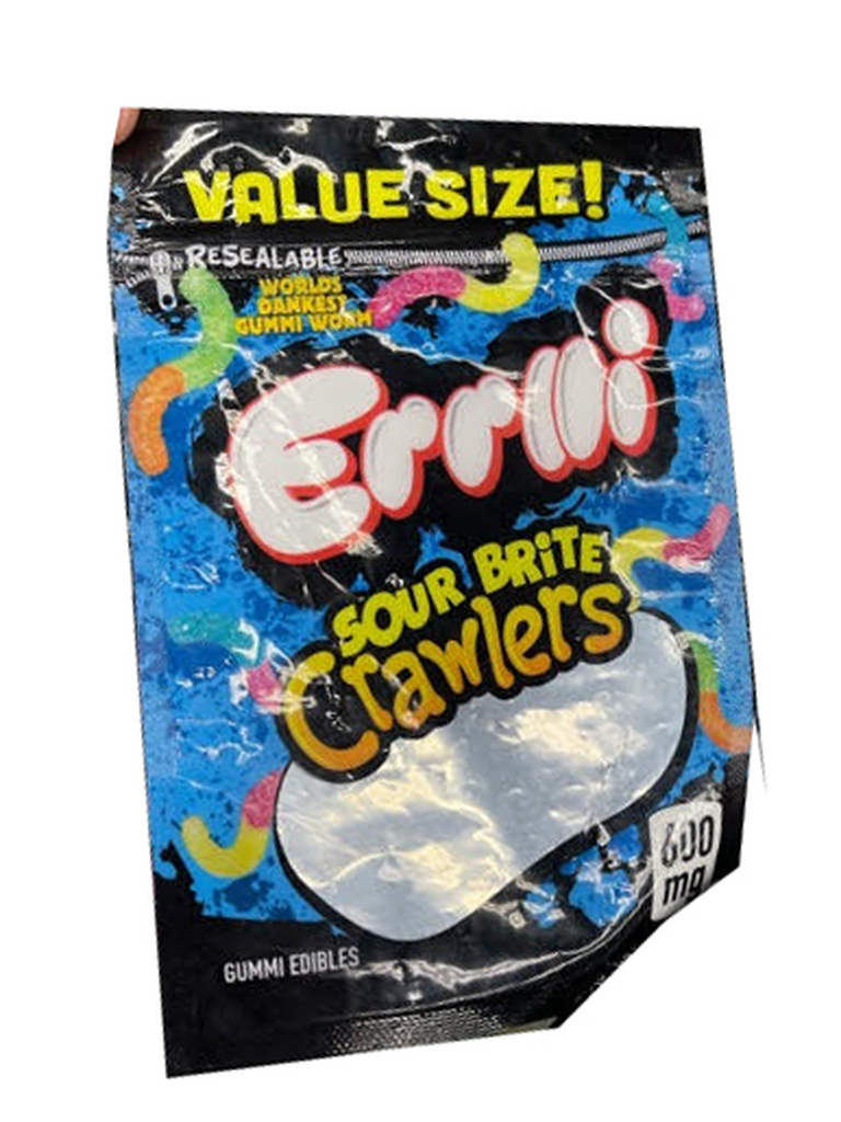 Errlli  Sour Bites Crawlers  600mg Mylar bags