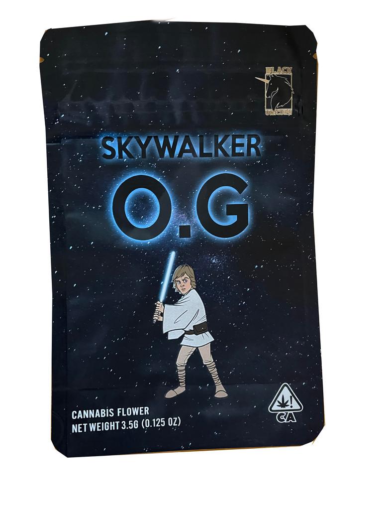 Black Unicorn -Skywalker OG  Mylar bag 3.5g  Flower (FREE SHIPPING)