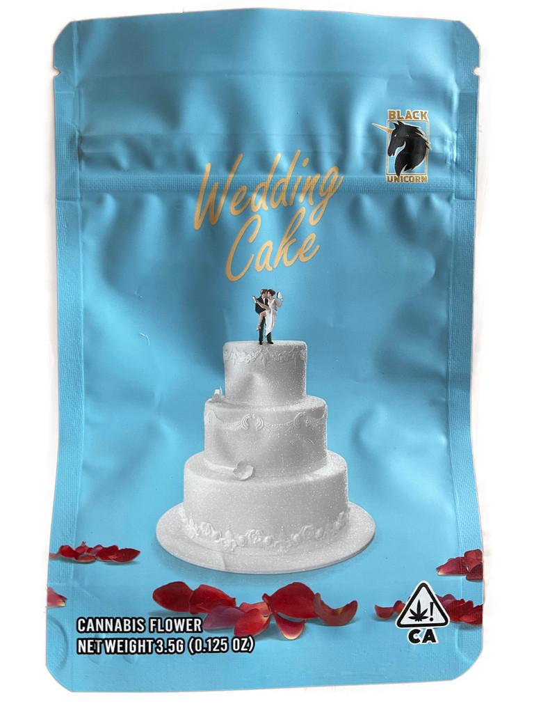 Black Unicorn -Wedding cake strain Mylar bag 3.5g  Flower (FREE SHIPPING)