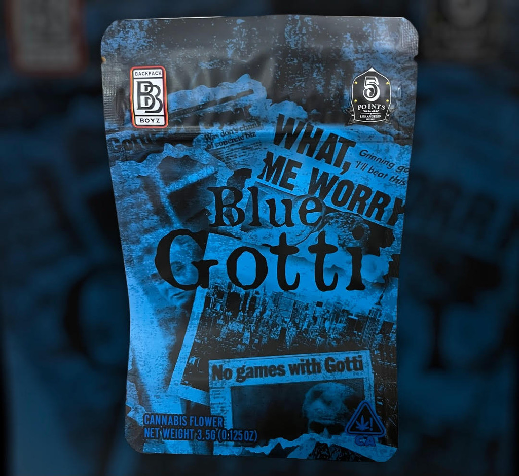 Backpack Boyz Blue Gotti  Mylar zip lock bag 3.5G  WITH TAMPER STICKER (FREE SHIPPING)
