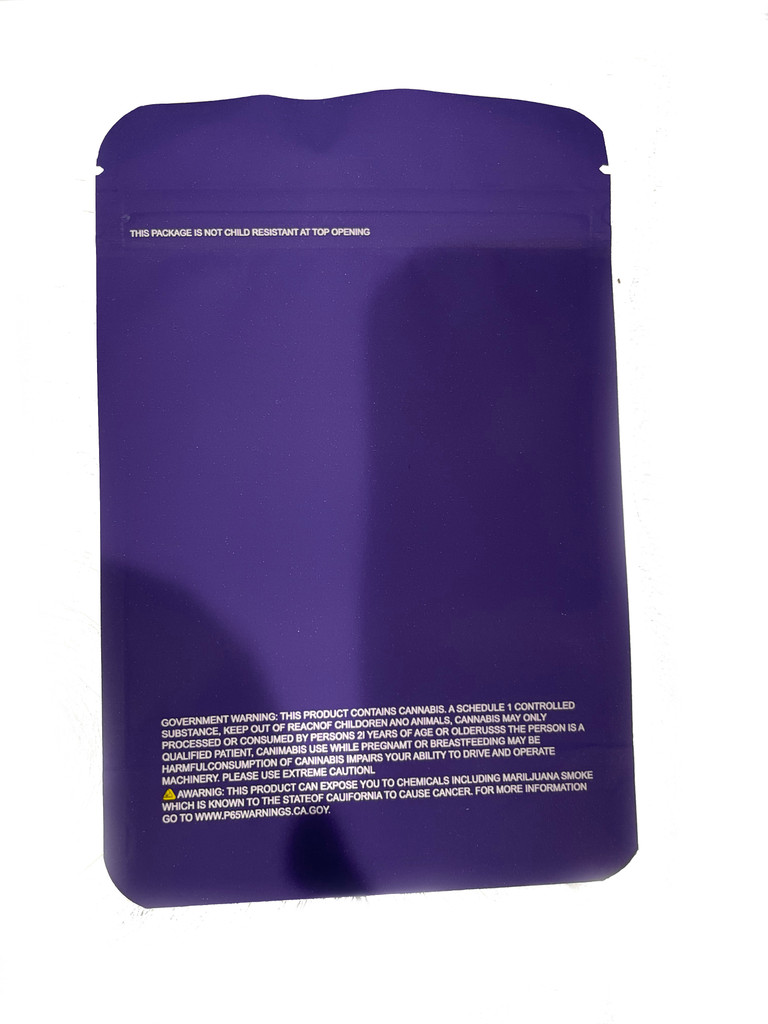New 3.5g Smell Proof Airtight Mylar Bag Kobe OG Purple Bag Only