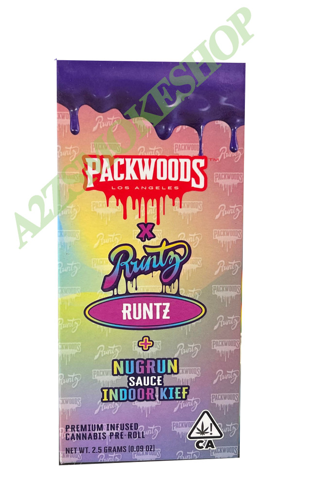 Packwoods Runtz Packaging Box with Tubes & Holographic Sticker