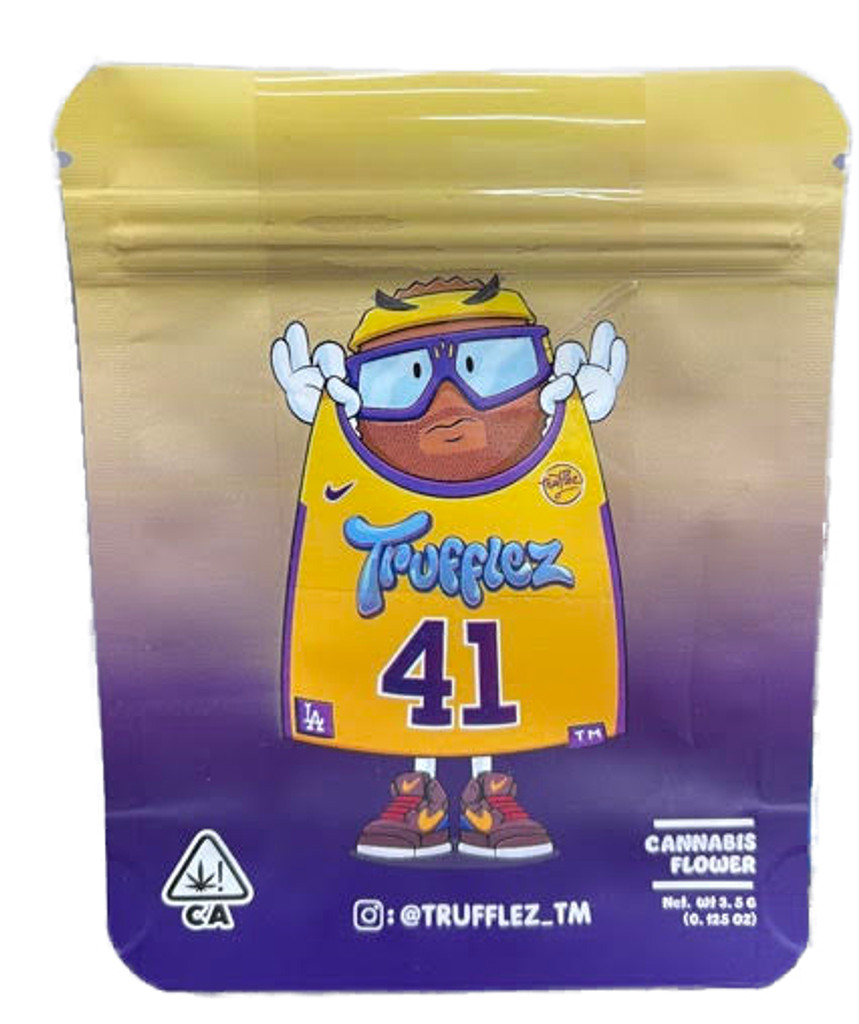 Trufflez 41 Mylar bag 3.5g Smell Proof Airtight Mylar Bag- Packaging Only