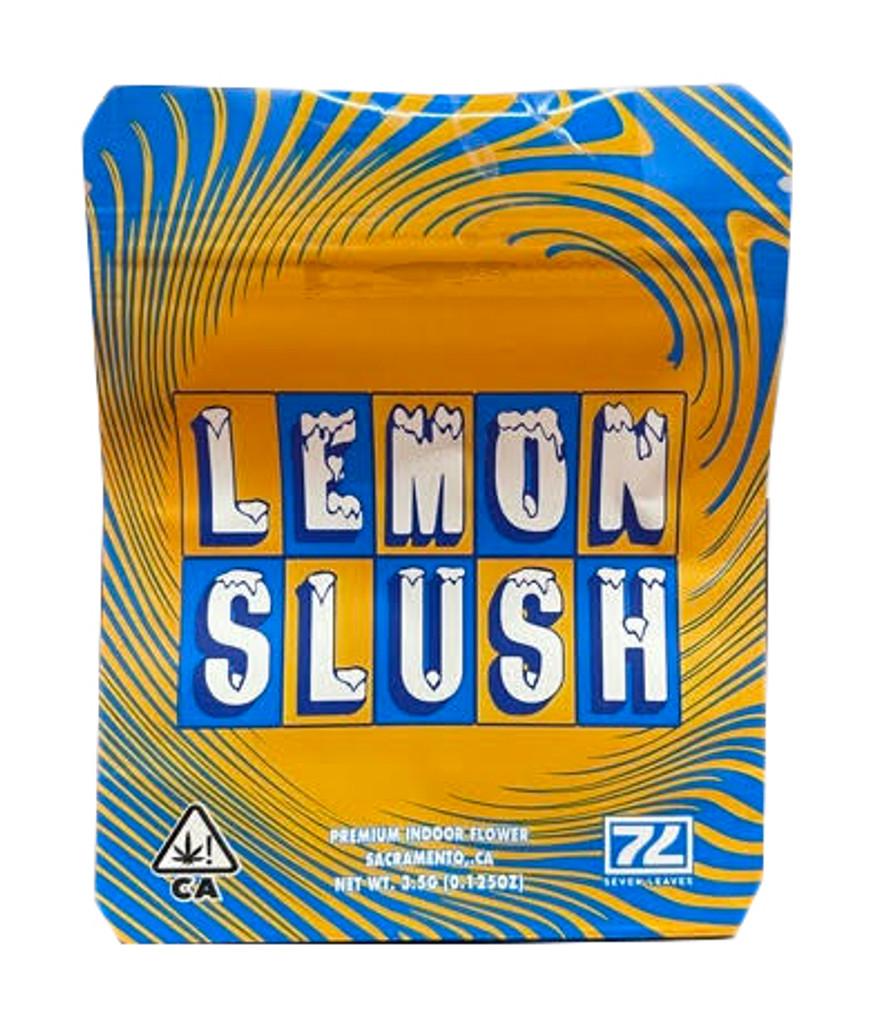 Seven Leaves Lemon Slush Mylar bag 3.5g Smell Proof Airtight Mylar Bag- Packaging Only