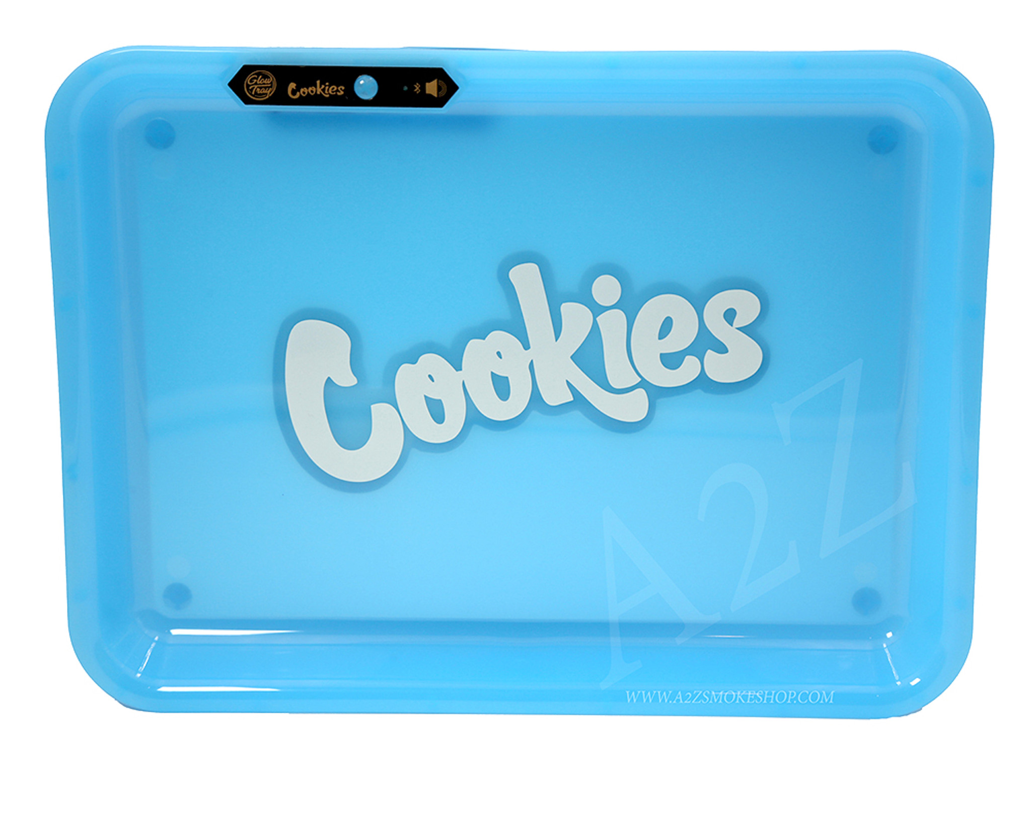 GLOW TRAY X COOKIES LED LIGHT UP ROLLING TRAY GREEN