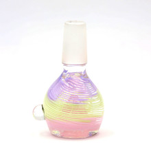Glass Pink Yellow Purple Color Bowl 14mm Male (FREE SHIPPING)