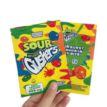 Gushers Sour Tropical Flavors 500mg Mylar bags, packaging only
