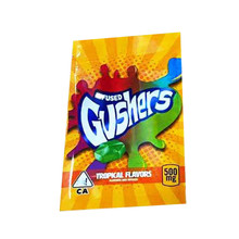 Gushers Tropical Flavors 500mg Mylar bags, packaging only