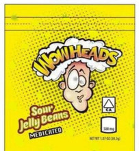 Wow Heads Sour Jelly Beans  500mg Mylar bags