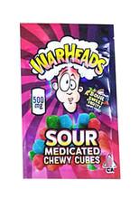 War Heads Sour Sweet Fruity 500mg Mylar bags