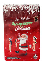 Black Unicorn -Santa Claus HO HO HO Merry Christmas Merry Juana  Mylar bag 3.5g  For Flower (FREE SHIPPING)