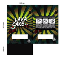 Black Unicorn -Lava Cake with window  Mylar bag 3.5g  For Flower (FREE SHIPPING)
