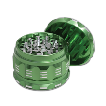 "Black Unicorn Best Herb Grinder with Pollen Catcher. Large 4 Piece, 2.5"" Aluminum (Green)"