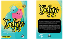 Black Unicorn - Gelato 33 Mylar bag 3.5g  For Flower  (FREE SHIPPING)