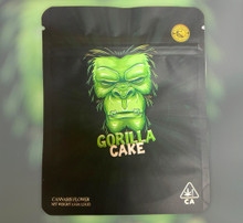 Black Unicorn -Gorilla Cake Neon  Mylar bag 3.5g  For Flower  (FREE SHIPPING)