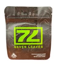 Seven Leaves 77  Mylar bag 3.5g Smell Proof Airtight Mylar Bag- Packaging Only
