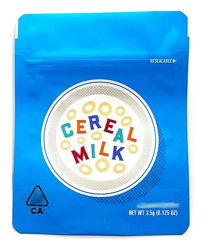 Cookies Cereal Milk Mylar Bags 3.5 Grams Smell Proof Resealable Bags w/ Holographic Authenticity Stickers and Label (FREE SHIPPING)