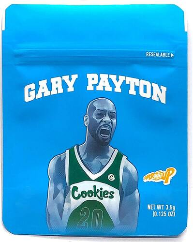 Cookies Gary Payton Mylar Bags 3.5 Grams Seal Proof Resealable Bags w/ Holographic Authenticity Stickers  (FREE SHIPPING)