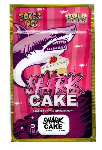 Shark Cake Gold Edition Mylar Bags 3.5 Grams Smell Proof Bags (FREE SHIPPING)