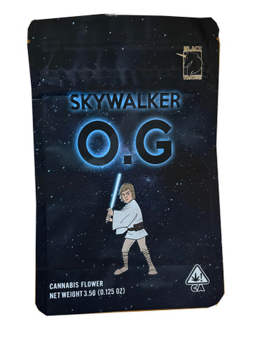 Black Unicorn -Skywalker OG  Mylar bag 3.5g  Flower (FREE SHIPPING)