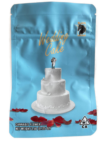 Black Unicorn -Wedding cake strain Mylar bag 3.5g  Flower (FREE SHIPPING)