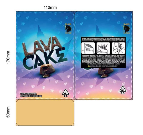 Black Unicorn -Lava Cake  Mylar bag 3.5g  For Flower (FREE SHIPPING)