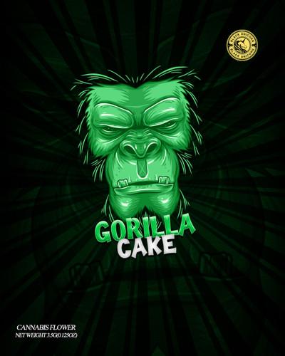 Black Unicorn -Gorilla Cake Neon  Mylar bag 3.5g  For Flower  (FREE SHIPPING)