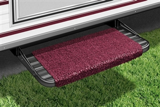 "18"" Wraparound RV Step Rug - Wine Burgundy"