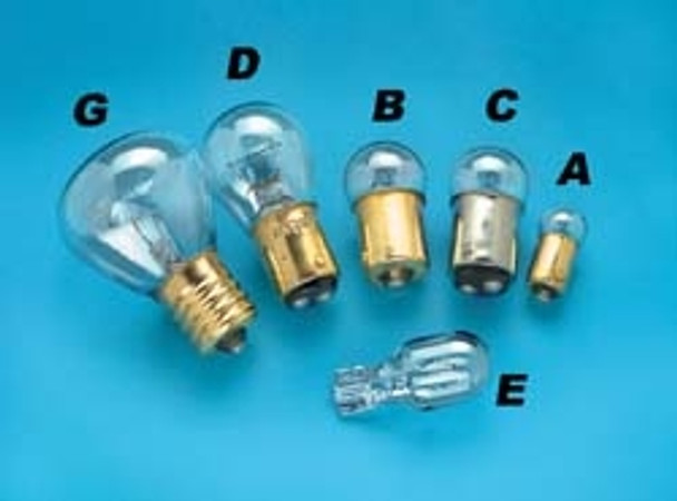 # 89 Speedway 12 Volt Light Bulb, B Shown, 2 Pack