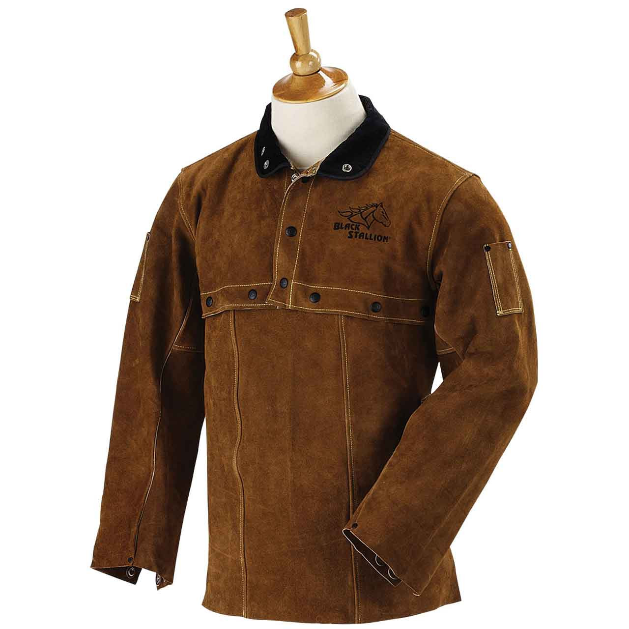 Black Stallion 21CS Premium Side Split Cowhide Welding Cape Sleeve X-Large