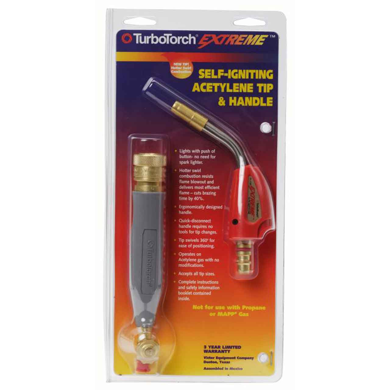 0386-0874 TurboTorch PL-3A Soldering Brazing Self Lighting Acetylene Tip