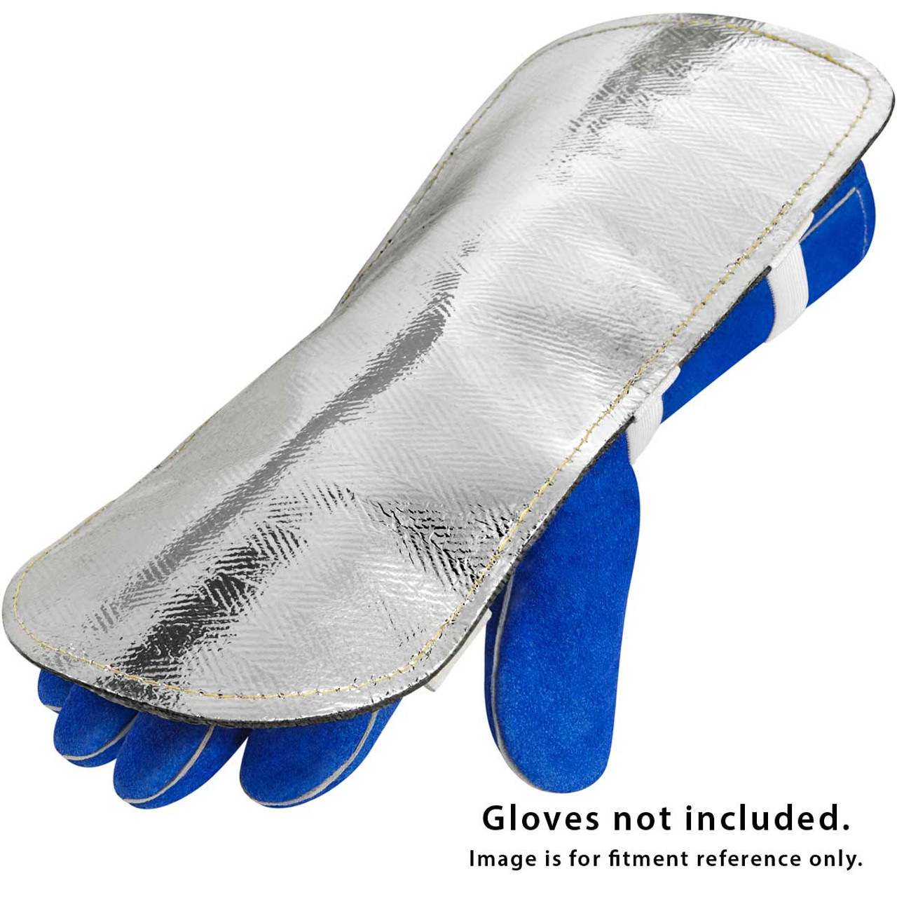 """Aluminized Welding Safety Back Hand Pad Protector 6 x 8/"""" w Straps Reflects Heat"""