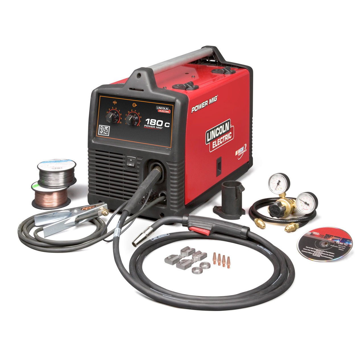 Lincoln Electric Power Mig 180c Mig Welder K2473 2