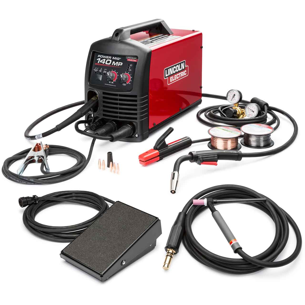 Lincoln Electric Power Mig 140 Mp Multi Process Welder With Tig One Pak K4499 1