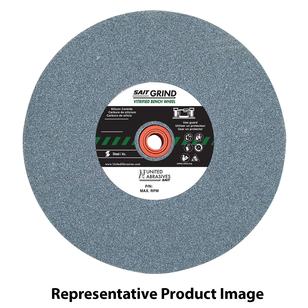 1-Pack United Abrasives-SAIT 28160 12 by 2 by 1-1//2 GC060 Bench Grinding Wheel Vitrified