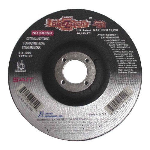 United Abrasives SAIT 22064 4-1//2x3//32x7//8 Saitech Ultimate Performance Premium Cut-off Wheels 25 pack