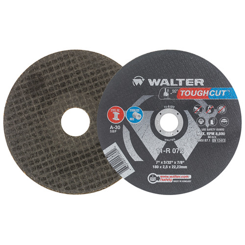 25 pack Walter 11T172 7x3//64x7//8 High Performance Zip Wheels Type 27 A30 Grit