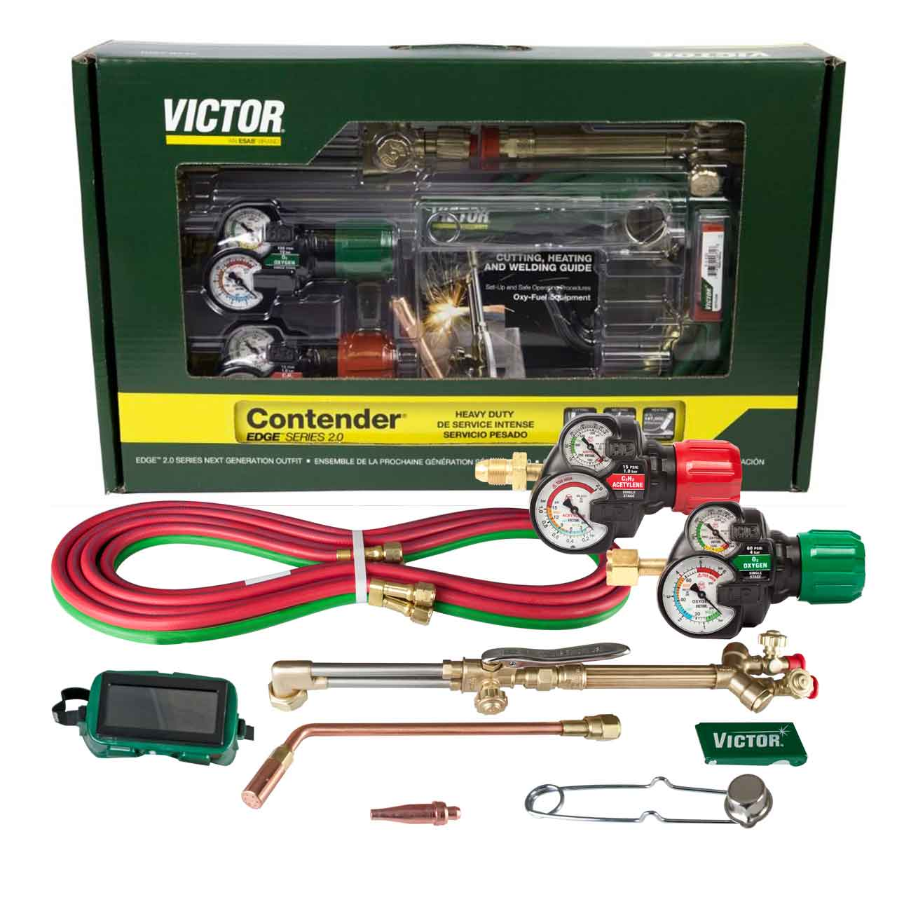Victor 0384-2130 Contender 540/510 Edge 2 0, Acetylene Cutting Torch Outfit