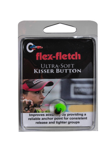 Ultra-soft archery kisser button helps archer with accuracy and grouping. Super soft and easy to use.