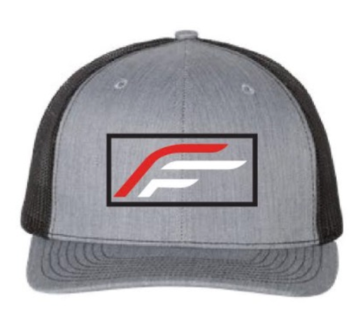Flex-Fletch Cap With Outlined New Logo - Gray