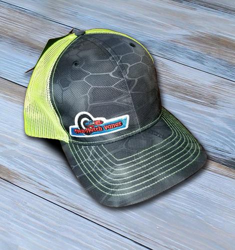 Flex-Fletch Cap With Original Logo - Gray & Neon Green