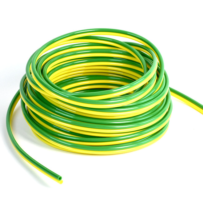 GREEN YELLOW POLYURETHANE VACUUM LINE - 8MM 100 ft. Roll