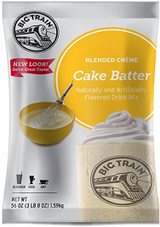 Can't wait for a birthday to roll around to get a taste of cake batter? No need to wait for a special occasion! Whip up a Cake Batter Blended Crème Frappé from Big Train instead! We source the finest ingredients and carefully blend them for an indulgent taste experience with each sip. Sweet yellow cake flavor infuses our delicious base that contains nonfat milk, real sugar and a blend of high-quality ingredients for a smooth, consistent texture. No forks required!