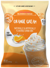 Enjoy the delicious taste of Orange Cream in this caffeine-free, coffee-free blended crème mix from Big Train. Kidz Kreamz blended crèmes contain the sweet flavors that kids crave, with only 3 grams of fat per 8 oz serving. Of course, it's not just for children, it's also perfect for grown-ups who don't want coffee. Enjoy as a sweet iced drink or a thick, blended frappe. The bulk 3.5 lb bag is perfect for the consistent Big Train drinker and it keeps for months if kept in an airtight container. Treat yourself at home, or serve it in your restaurant or coffee shop. Each 3.5 lb. bag prepares 40 drinks of 8 oz. each.