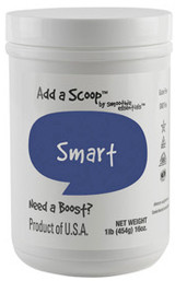 "The ""smart"" comes from this blend's ingredients that naturally encourage oxygen and blood to flow to the brain, which is necessary to think and talk more clearly"