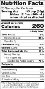 Ingredients: Sugar, Coconut Oil, Nonfat Milk, Maltodextrin, Corn Syrup Solids, Black Tea, Natural Flavors, Sodium Caseinate. Contains Less than 1% of the Following: Salt, Honey Powder (Sugar, Honey), Guar Gum, Silicon Dioxide (Anticaking Agent), Mono and Diglycerides, Dipotassium Phosphate, Pectin, Cinnamon, Allspice, Xanthan Gum, Clove, Cardamom, Soy Lecithin (Emulsifier).